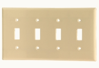 Cooper Wiring Devices #2154V WALL PLATE-  IVORY in Electrical Supplies Wiring Devices Device Cover Plates